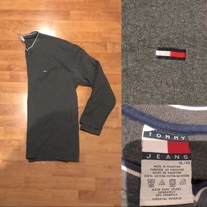 Vintage Tommy Hilfiger Ribbed Long Sleeve V-Neck